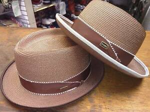 eae4c426118 Dobbs Bourbon Mens Straw Summer Hats Made in USA New with Tags