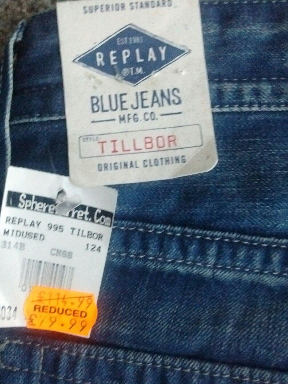 Uomo jeans REPLAY TILLBOR soccor Fit 30W 30W 30W 34L cdd4e2