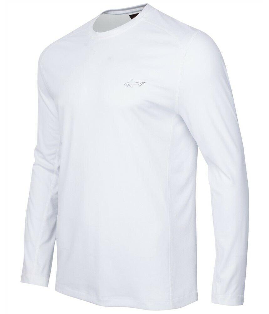 Greg Norman para Tasso Elba rendimiento de manga larga T-Shirt, blancoo Brillante, XXL