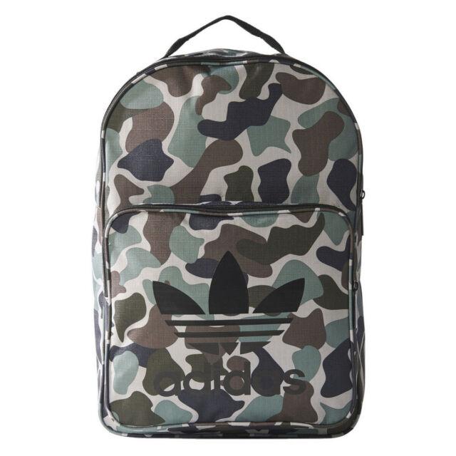 adidas Originals 2018 Trefoil Camo Laptop Backpack Gym School Rucksack BQ6084