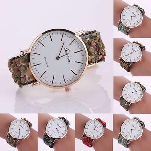 Fashion-Ladies-Geneva-Women-039-s-Stainless-Steel-Leather-Analog-Quartz-Wrist-Watch