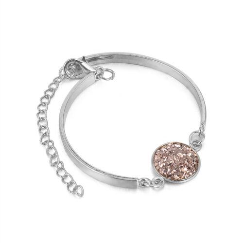 Women Multi Agate Natural Stone Beads Bracelet Wristband Jewelry Gift Fashion