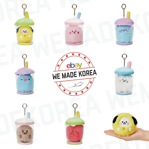 BT21-Baby-Boucle-Bubble-Tea-Bagcharm-Plush-Keyring-7types-Authentic-K-POP-Goods
