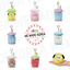 BT21-Baby-Boucle-Bubble-Tea-Bagcharm-Plush-Keyring-7types-Authentic-K-POP-Goods miniature 1