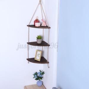 Wood-Hanging-Shelf-Floating-Rope-Wall-Corner-Display-Storage-Rack-Home-DecorGift