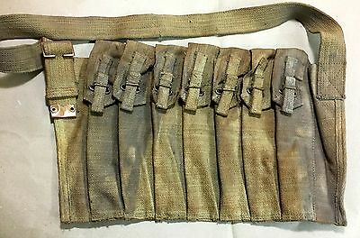 """AGED"" UK Sten Seven Pocket Magazine Bandolier - Reproduction"