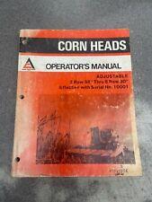 Allis Chalmersgleaner Adjustable Corn Head Operators Manual Used U71504458