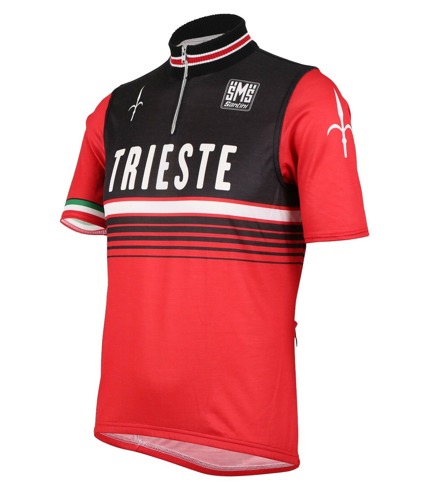 2014 Giro d'Italia Trieste Cycling Jersey in Tech  Wool -Made in  by Santini  fast delivery and free shipping on all orders