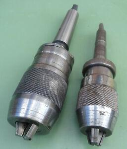 2-ROHM-ALBRECHT-Schnellspann-Bohrfutter-0-10-3-16-MK-Kegeldorn-B18-Bohrmaschine