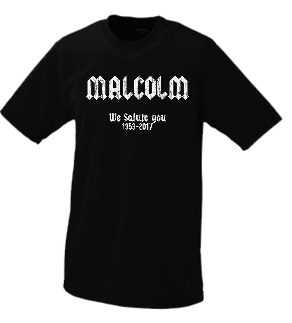 Malcolm Young We Salute YouACDC RIP Tribute Tshirt