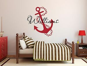 Image Is Loading Custom Anchor Name Wall Decal Nursery Decor