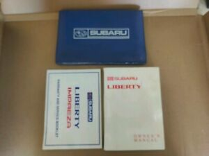Subaru-Liberty-Outback-Owners-manual-amp-service-book-1997-with-case