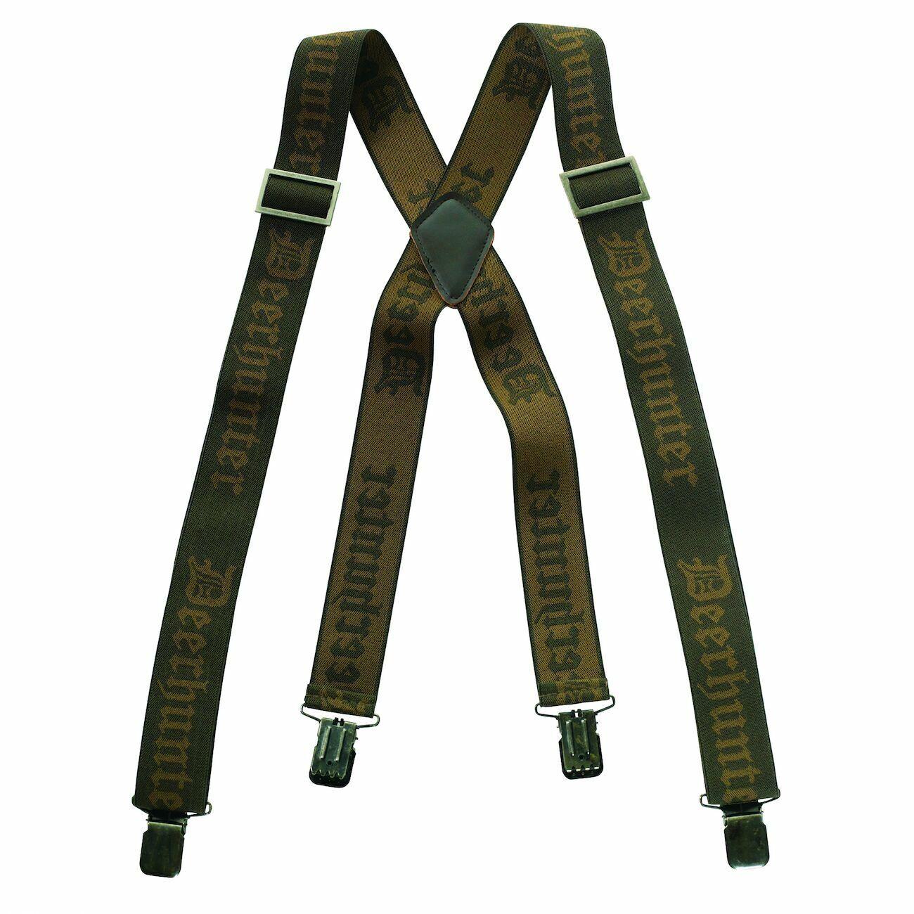 Deerhunter Logo Hosenträger mit Clips Unisex elastisch verstellbar Gürtel Hose