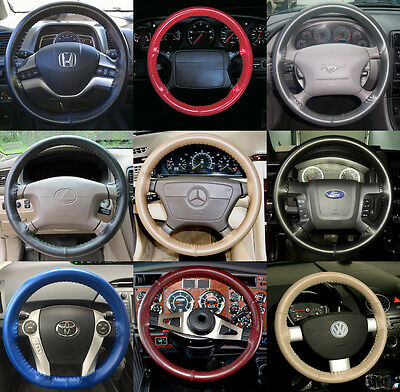 """Blue 18/"""" Perforated Leather Steering Wheel Cover"""