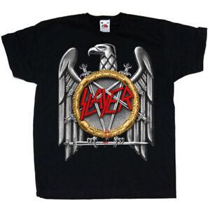 Slayer-Silver-Eagle-Thrash-Metal-Rock-Licensed-Tee-T-Shirt-Men