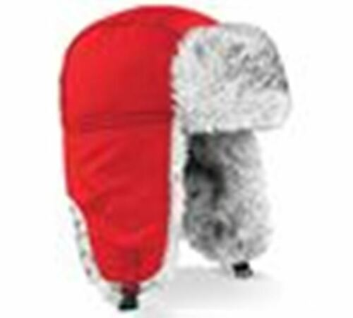 GREAT PRICE! MENS FUR TRIMMED SHERPA WINTER HAT BC345 BLACK NEW
