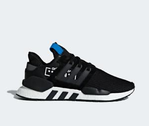 Neue adidas - männer - originale eqt unterstützung 91 schwarz / 18 schuhe (d97061) schwarz 91 / schwarz - blauer 5b6625