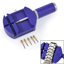 Bracelet Wrist Watch Band Adjuster Repair Tool Set Link Strap Remover + 5 Pins