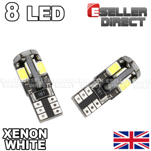 2x T10 8SMD LED WHITE BULBS NUMBER PLATE CANBUS FITS FOR NISSAN GT-R 2008-2015