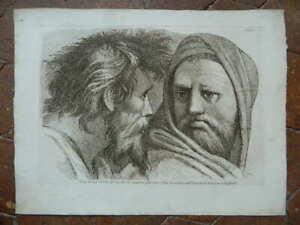 Stampa Ritratto Incisione Acquaforte Paolo Fidanza Dopo Raphael IN Vaticano 18th