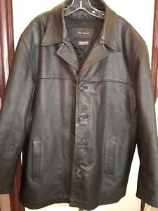 5448b74a18e Leather Coat Black Jacket Jim and Mary Lou Thinsulate Men s XXL