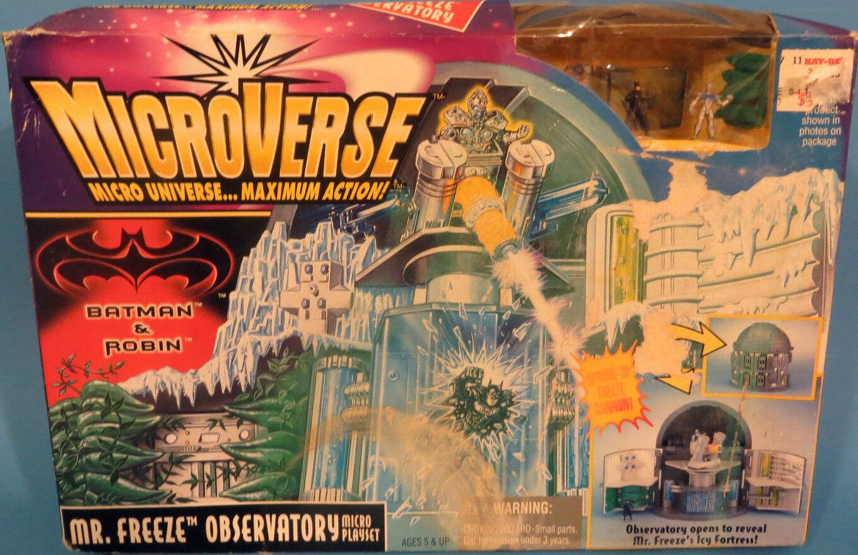 Microverse Batman & Robin Mr Freeze Observatory Set New