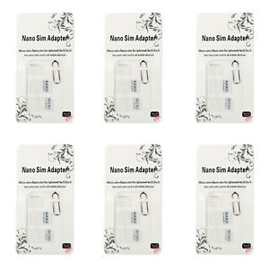 6Pcs-Nano-SIM-Tarjeta-a-Micro-Estandar-Adaptador-Set-Para-Samsung-iPhone