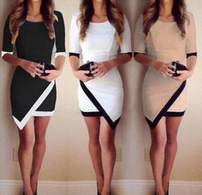 Asymmetric Designer Sexy Women Bandage Bodycon Evening Party Cocktail Mini Dress