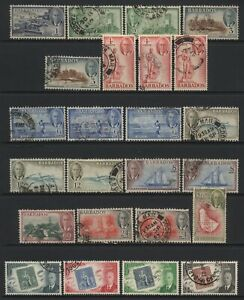 Barbados-Collection-24-KGVI-Stamps-Used