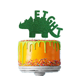 Outstanding Dinosaur 8Th Birthday Cake Topper Number Eight Cake Topper Funny Birthday Cards Online Benoljebrpdamsfinfo