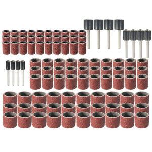 102-Schleifbaender-Schleifwalze-Schleifkappen-12Halter-fuer-Proxxon-Koernung