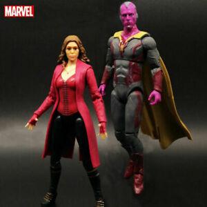 Marvel-Legends-Avengers-Vision-Scarlet-Witch-Spouse-PVC-Action-Figure-2pcs-set