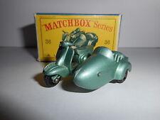 MATCHBOX  LESNEY MOTOR SCOOTER AND SIDECAR 36 1960      LAMBRETTA
