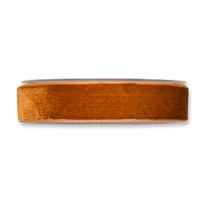 Cognac-Velvet-Fabric-Ribbon-1-inch-wide-on-a-10yd-roll
