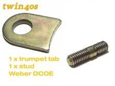 4 x WEBER DCOE 40 TRUMPET TAB NUTS WASHERS WASHER PLUS 4 X STUDS