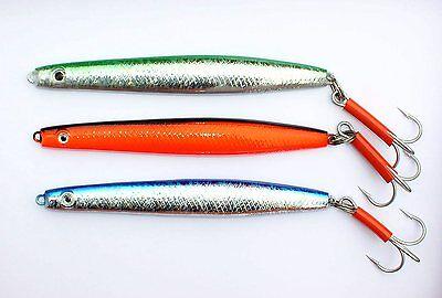 400 Pilker Sölvkroken Sölvpilk S//G 125 250 500 Gramm Grün // Silber Pirken