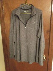 Russell Dri-Power Men's Medium Gray Polyester Athletic Stretch Training Shirt