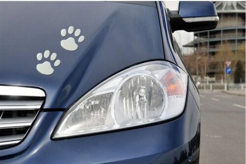 Silver Bear Paw Pet Animal Footprint Emblem Car Truck Decor 3D Sticker Decal Top