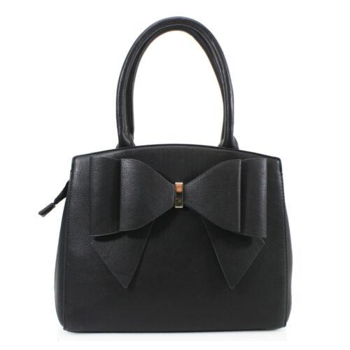 Women/'s Bow Bag Ladies Twin Grab Handle Evening Shoulder Handbag New UK