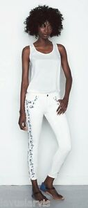 Dimensioni Nwt Genetic Swan ricamo Skinny Stretch Cotton Zip Ankle Jeans 27 228 gFgwqOS