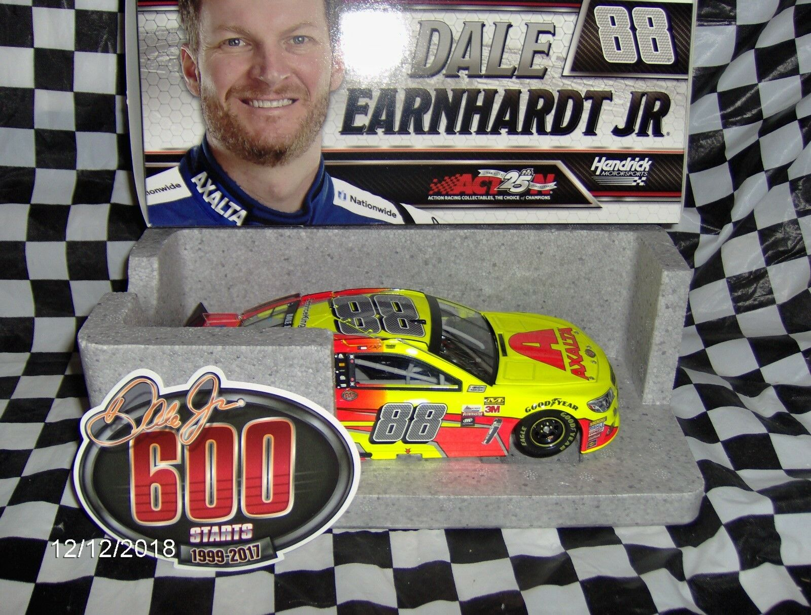 2017 Dale Earnhardt Jr. Axalta Service King 600th Starts 1 24th