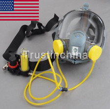 US Complete Set Circulating Air Supply w/Silicone Gas Mask Full Face Respirator