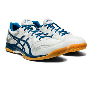 Asics Homme Gel-Rocket 9 Intérieur Cour Chaussures Gris Bleu Sports Squash Badminton