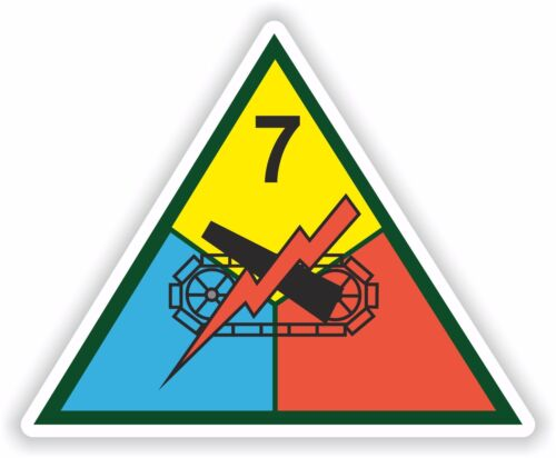 7th US Armored Division decal ARMY NEW UNITED STATES