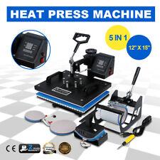 Heat Press Transfer Machine Sublimation 12x15 Digital Display 5in1 T Shirt Mug