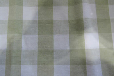 White 140cm Wide Curtain//Craft Fabric Westgate Gingham Check Blue