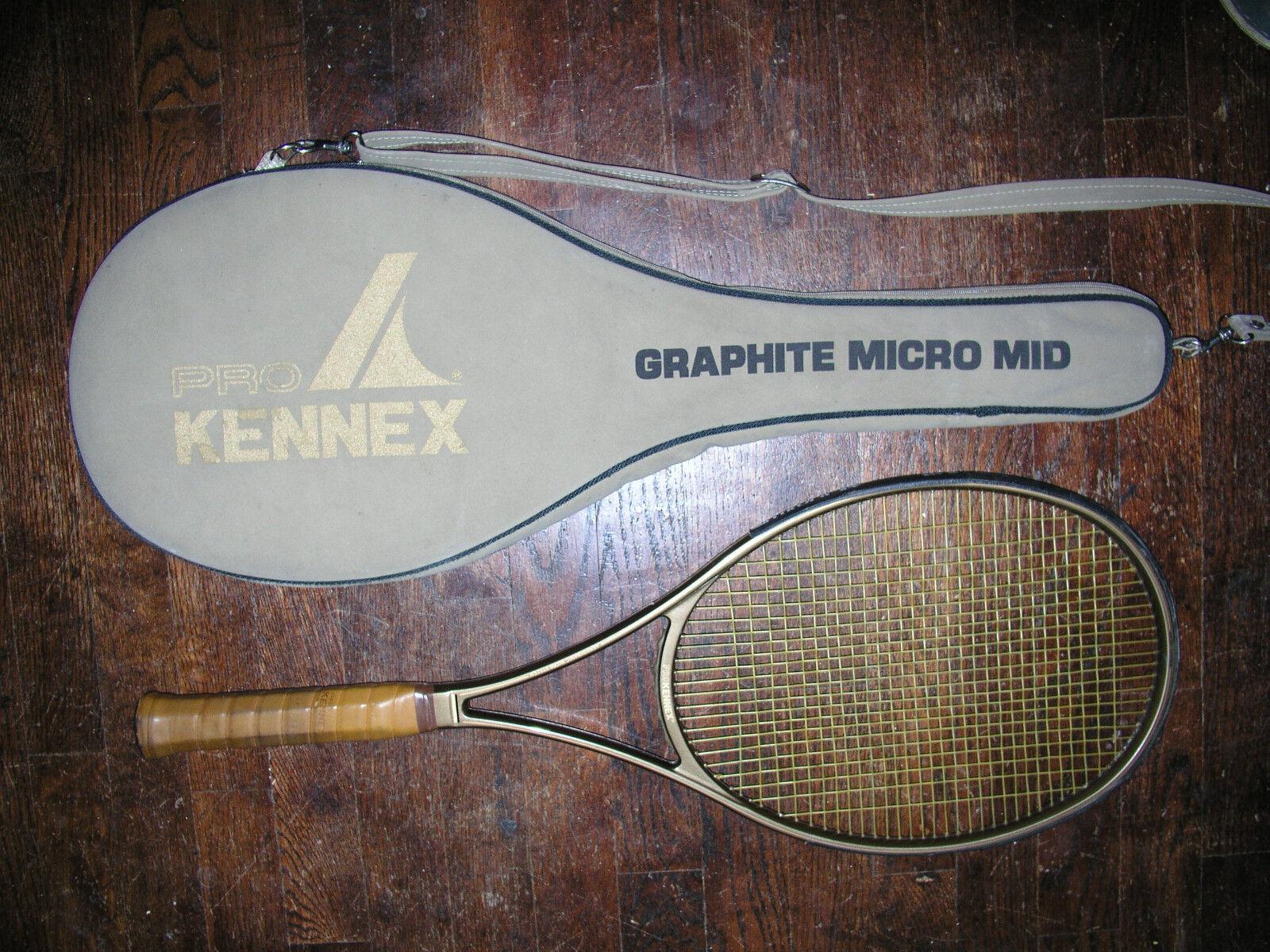 Una rara Pro Kennex Grafito Micro Mid  en muy buen estado (L 4 1 2  S) con cubierta  comprar nuevo barato
