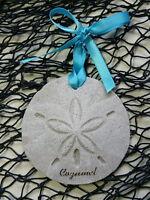 Cozumel Sand Dollar Made Wilth Sand Tropical Beach Ornament