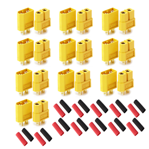 XT60-Goldstecker-Lipo-Akku-Stecker-Buchse-Schrumpfschlauch-1-2-3-4-5-10-20-60A