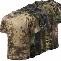 MENS CASUAL SLIM MILITARY CAMOUFLAGE T SHIRT CAMO ARMY COMBAT T-SHIRT TEE TOPS
